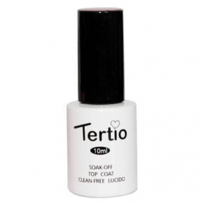 Гель-лак Tertio Top Coat без липкого слоя 10 ml