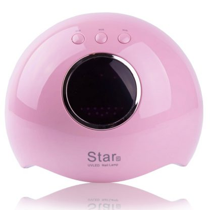 Лампа LED+UV STAR 6 с дисплеем, 24 Вт розовая
