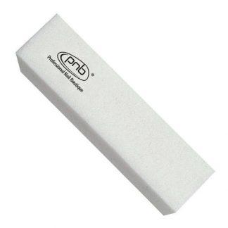 Баф-брусок для ногтей 180/180 White, прямоугольный,PNB