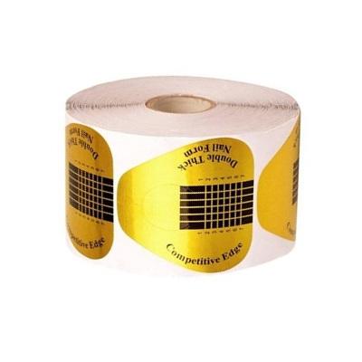 Форма для наращивания ногтей золотая широкая, 500 шт/рул