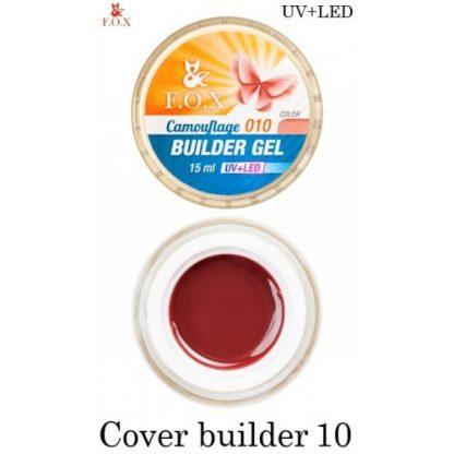 Гель камуфлирующий FOX Cover (camouflage) builder gel 10, 15 мл