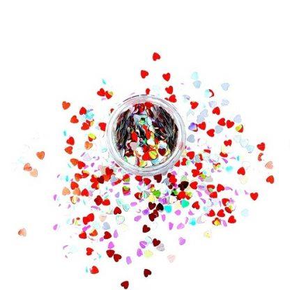 Конфетти разноцветные сердечки