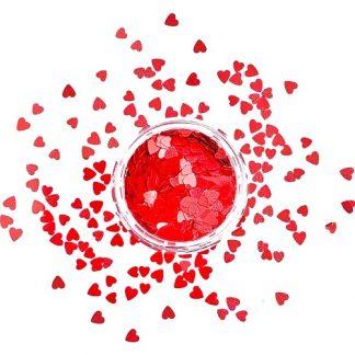Конфетти красные сердечки