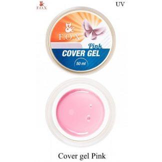 Гель камуфлирующий для моделирования FOX Cover gel pink, 50 мл