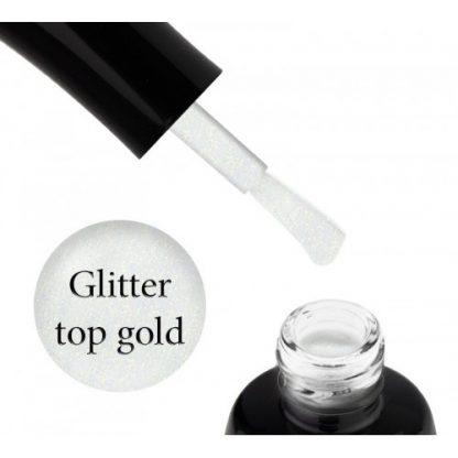 Топ без липкого слоя Luxton Glitter Top Gold с шиммером, 10 мл