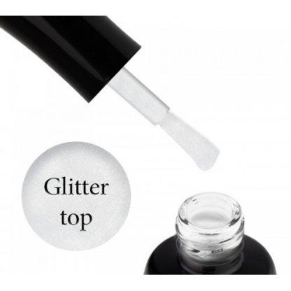 Топ без липкого слоя Luxton Glitter Top Silver с шиммером, 10 мл