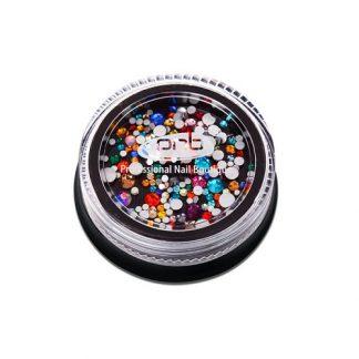 Стразы PNB разноцветные, микс размеров, 200 шт