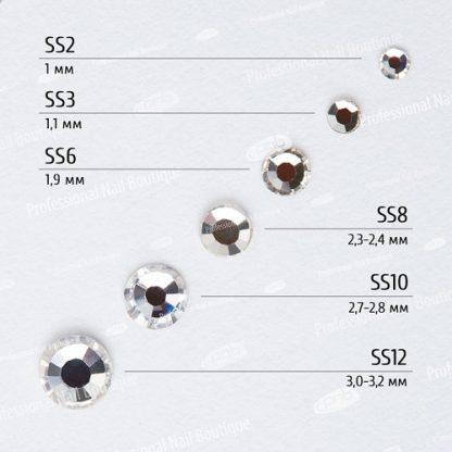 Стразы PNB Crystal микс размеров, 1440 шт