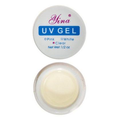 Гель для наращивания ногтей UV LINA CLEAR, 15 мл