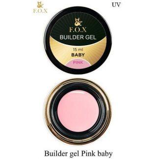 Гель моделирующий FOX Builder gel Pink baby, 15 мл