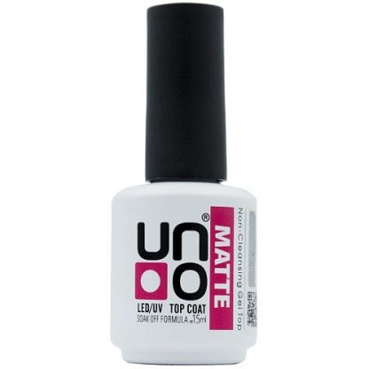 Топ матовый для ногтей UNO Matte Top Coat , 15 мл