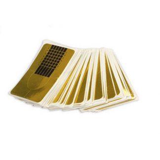 Форма для наращивания ногтей золотая узкая 100 шт