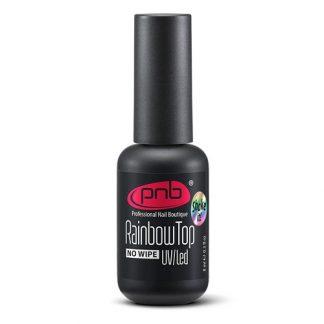 Топ с радужным шиммером PNB Rainbow Top No wipe, 8 мл