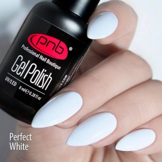 Гель-лак белый Perfect White PNB, 8 мл