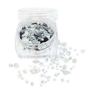 Конфетти для ногтей серебро