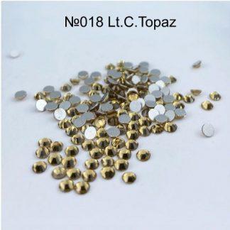 Стразы для ногтей SS3, 100 шт №018 Topaz