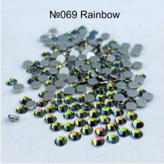 Стразы для ногтей SS3, 100 шт №069 Rainbow