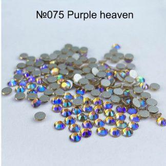 Стразы для ногтей SS3, 100 шт №075 Purple heaven