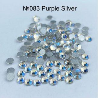 Стразы для ногтей SS3, 100 шт №083 Perple Silver