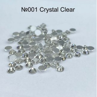 Стразы для ногтей SS3, 100 шт №001 Crystal