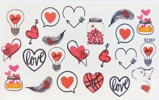 Слайдер для дизайна ногтей S1307 сердечки