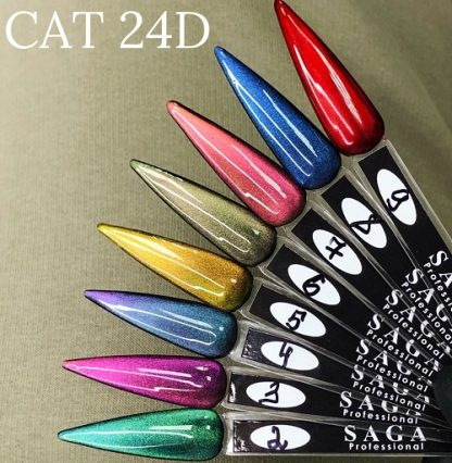 Кошачий глаз Saga магнитный гель лак 24D, 8 мл №4