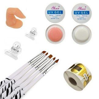 Мини набор для гелевого наращивания ногтей