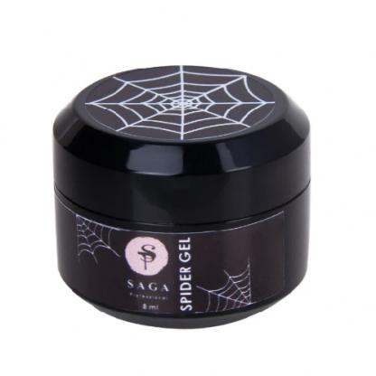 Гель паутинка Saga Spider Gel, Черный, 8 мл