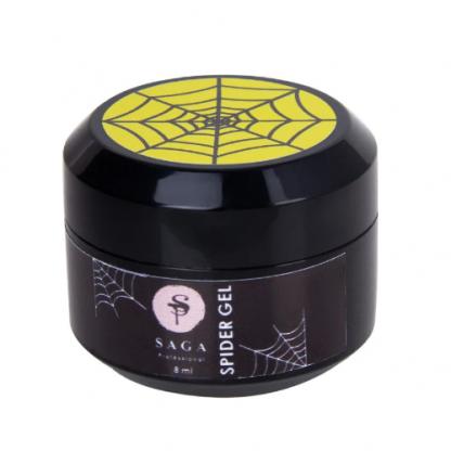 Гель паутинка Saga Spider Gel, Желтый, 8 мл