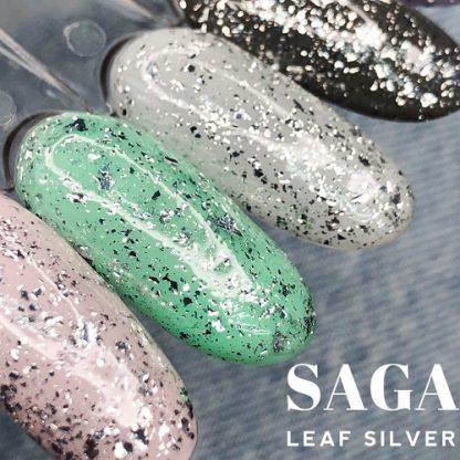 Топ с серебряной слюдой Saga Leaf Silver, 8 мл