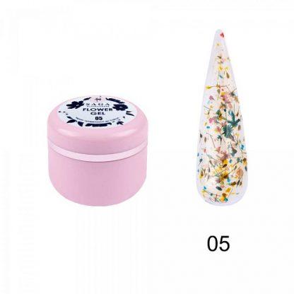 Гель с сухоцветами Saga Flower Fairy Gel № 05, 5 г