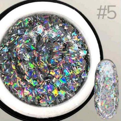 Гель для дизайна Saga GALAXY Glitter №5, 8 мл