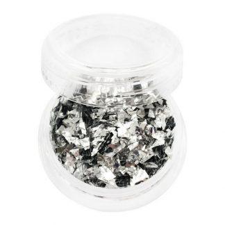 Слюда для дизайна ногтей серебро