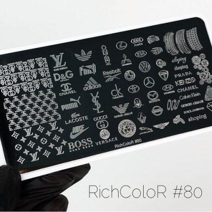 Пластина для стемпинга RR 80