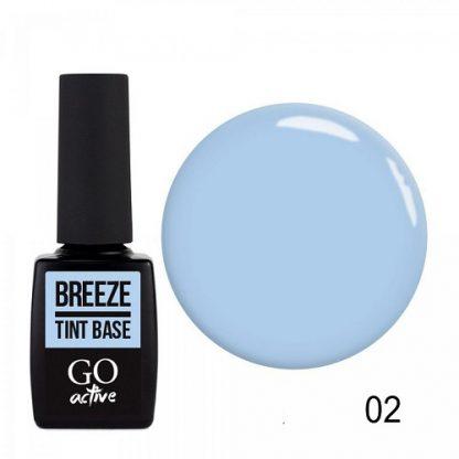 База цветная каучуковая GO Active Tint Base №02 Breeze, 10 мл