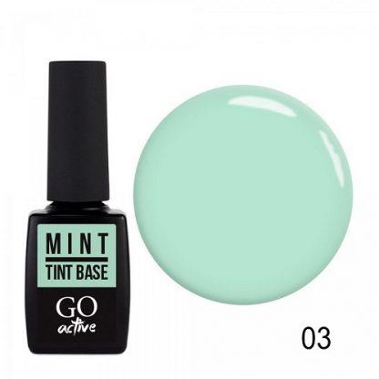 База цветная каучуковая GO Active Tint Base №03 Mint, 10 мл