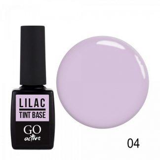 База цветная каучуковая GO Active Tint Base №04 Lilac, 10 мл