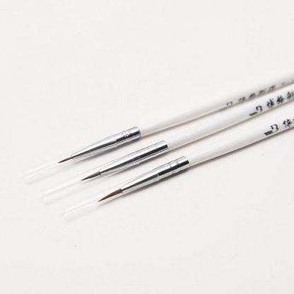 Набор тонких кистей для дизайна ногтей